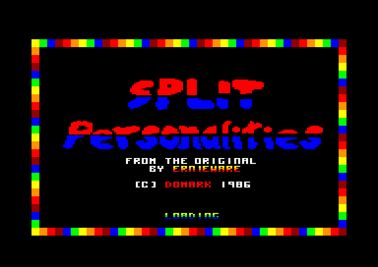 screenshot of the Amstrad CPC game Split personalities by GameBase CPC
