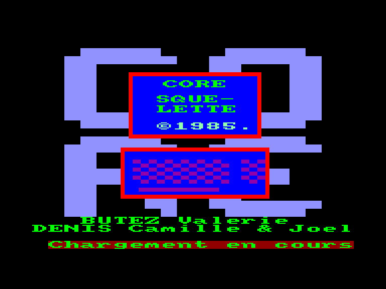 screenshot of the Amstrad CPC game Squelette (le) by GameBase CPC
