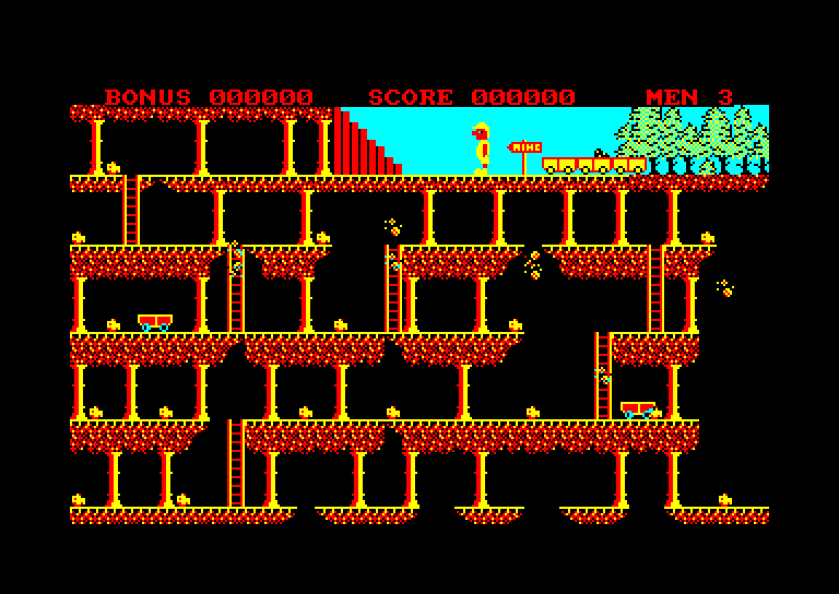 screenshot of the Amstrad CPC game Stairway to Hell by GameBase CPC