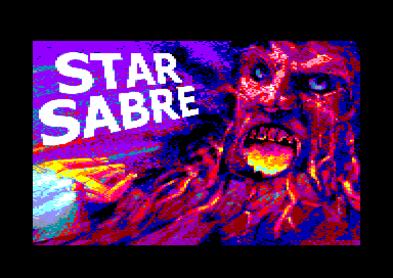 screenshot of the Amstrad CPC game Star Sabre by GameBase CPC