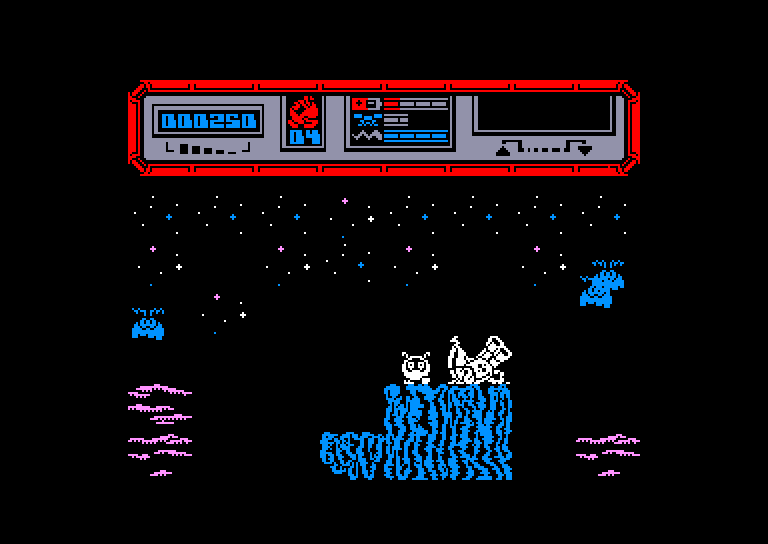 screenshot of the Amstrad CPC game Starquake by GameBase CPC