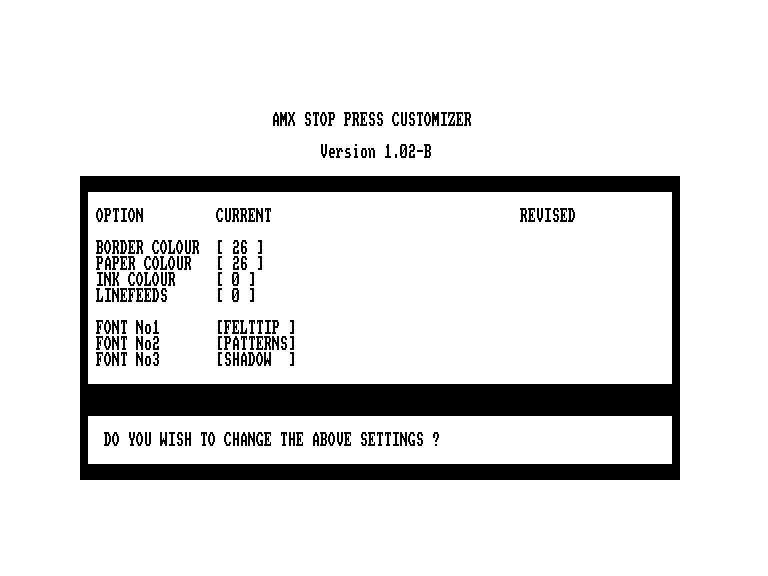 screenshot of the Amstrad CPC game Stop Press - Desktop Publishing by GameBase CPC