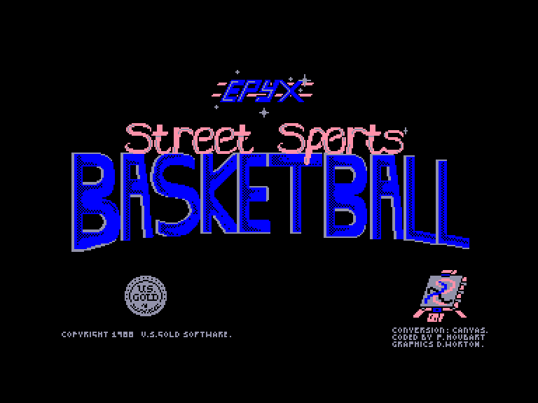 screenshot of the Amstrad CPC game Street sports basketball by GameBase CPC