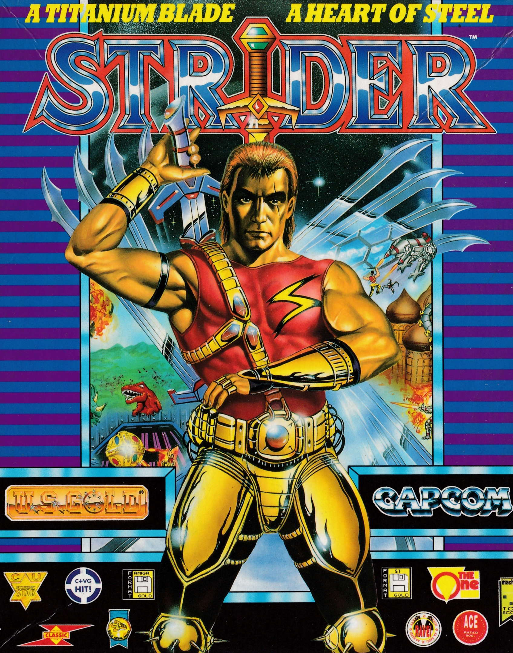screenshot of the Amstrad CPC game Strider by GameBase CPC