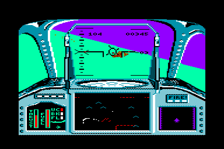 screenshot of the Amstrad CPC game Strike force harrier by GameBase CPC