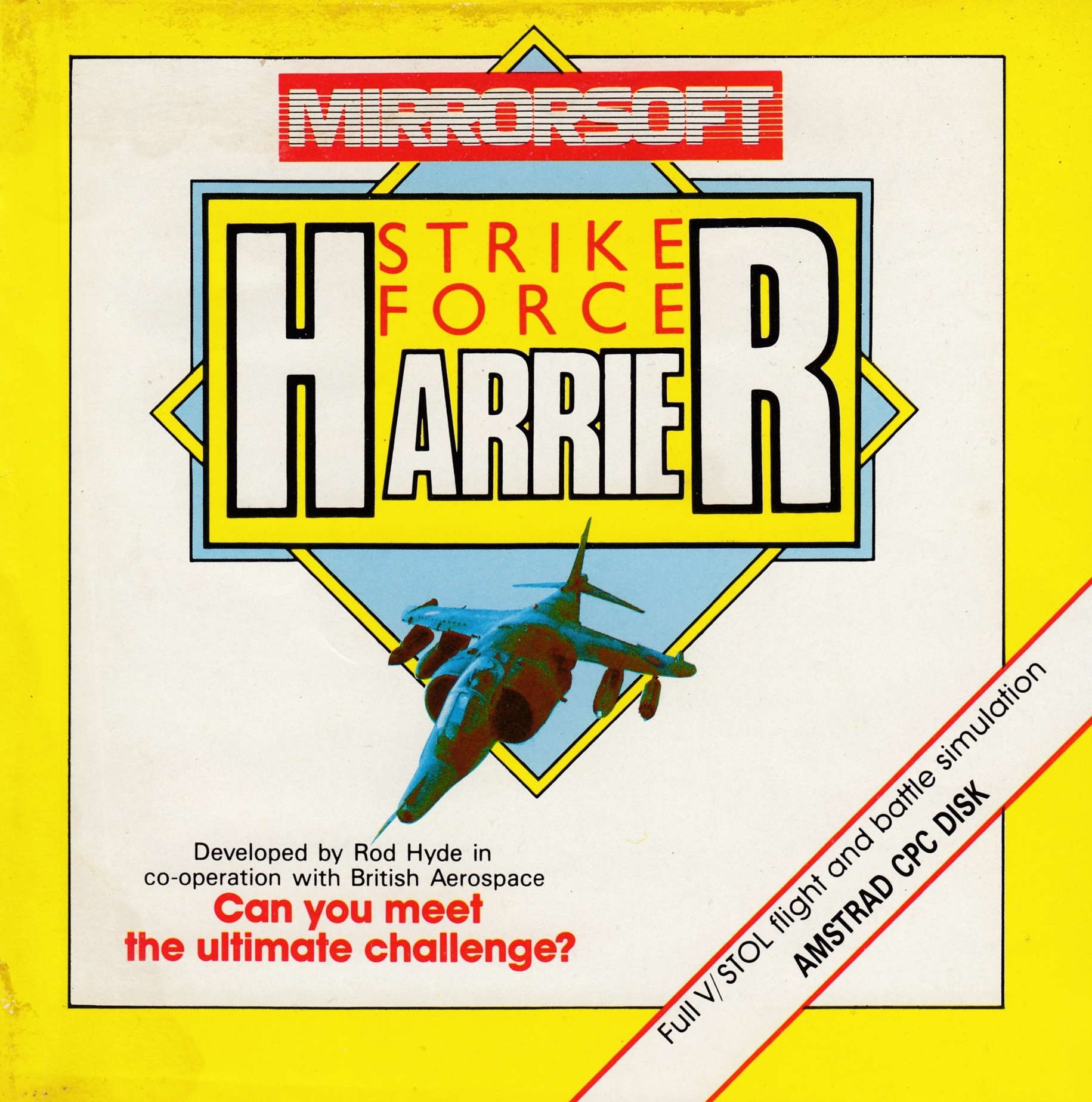 cover of the Amstrad CPC game Strike Force Harrier  by GameBase CPC