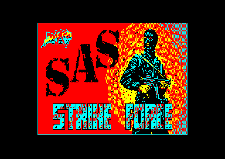 screenshot of the Amstrad CPC game Sas Strike Force by GameBase CPC