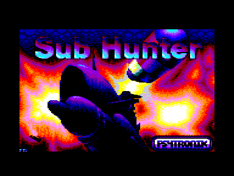 screenshot of the Amstrad CPC game Sub Hunter by GameBase CPC