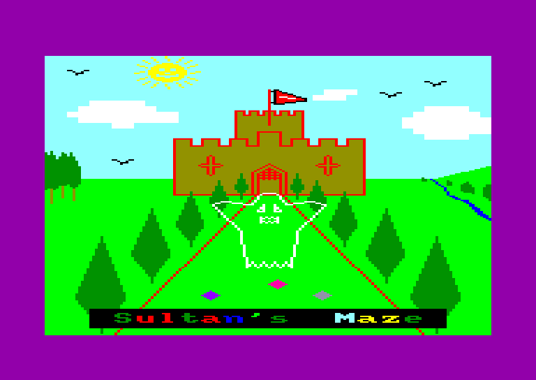 screenshot of the Amstrad CPC game Sultan's maze by GameBase CPC