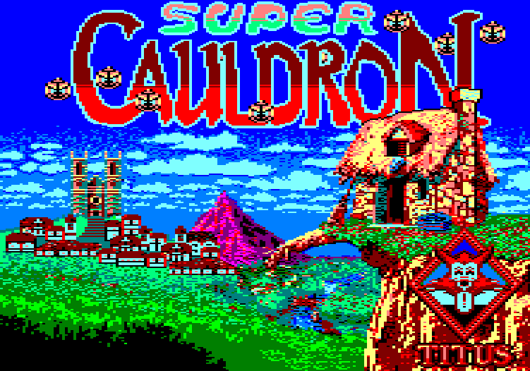 screenshot of the Amstrad CPC game Super Cauldron by GameBase CPC