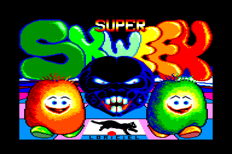 screenshot of the Amstrad CPC game Super Skweek by GameBase CPC