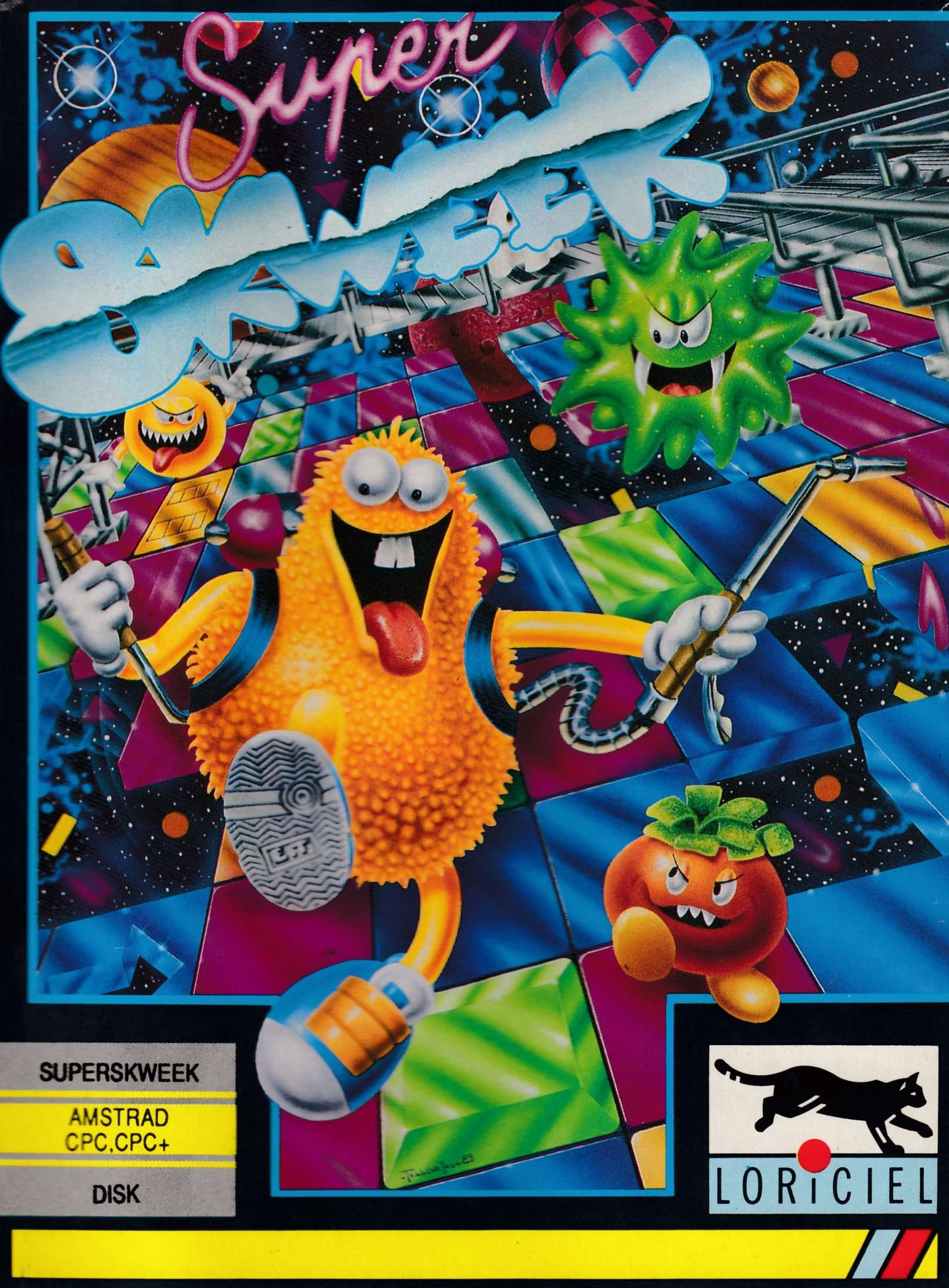 cover of the Amstrad CPC game Super Skweek  by GameBase CPC