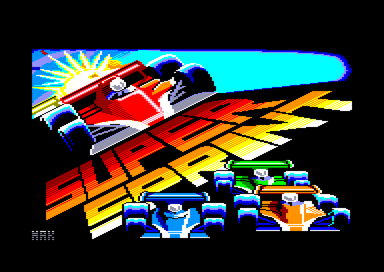 screenshot of the Amstrad CPC game Super Sprint by GameBase CPC