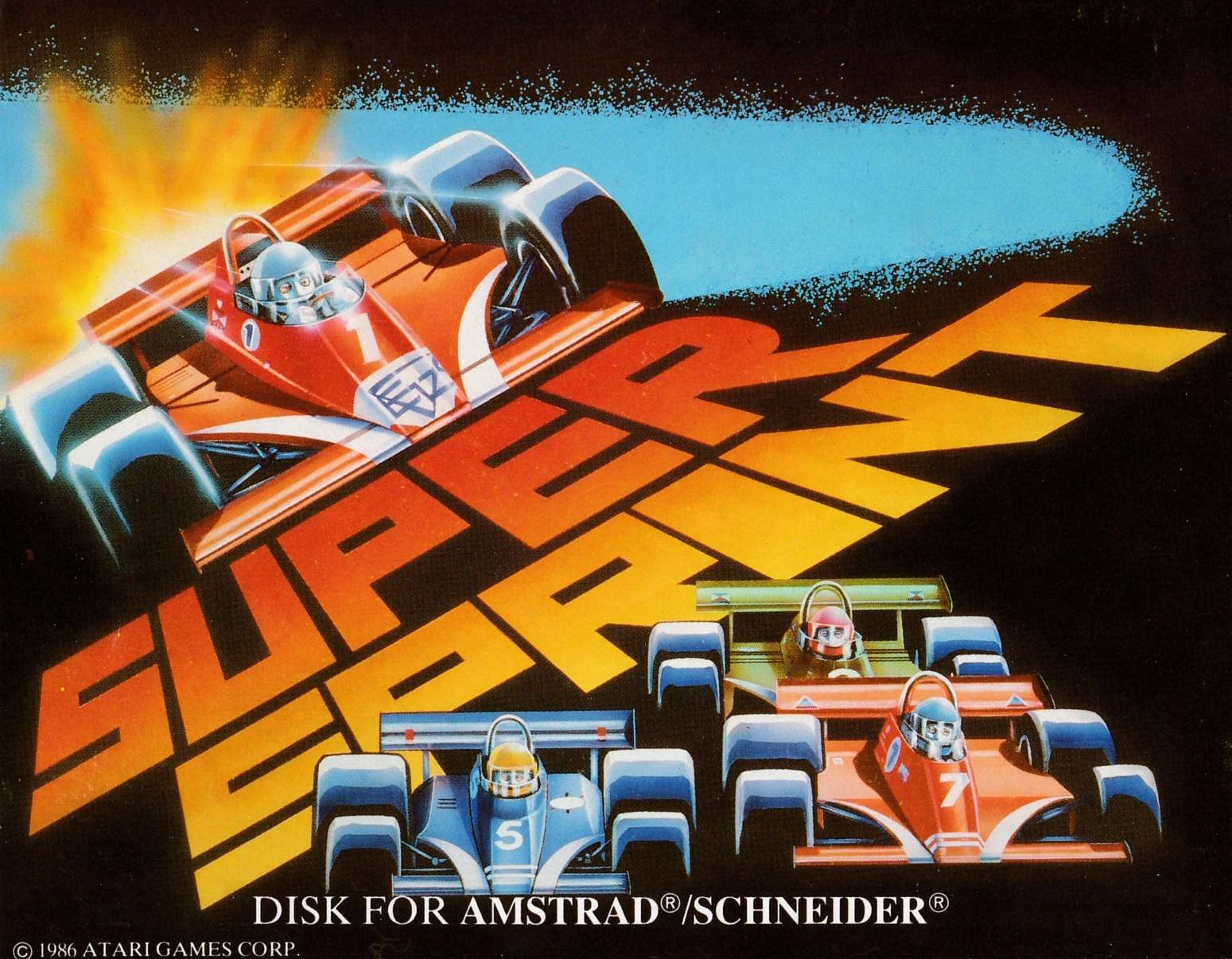 cover of the Amstrad CPC game Super Sprint  by GameBase CPC