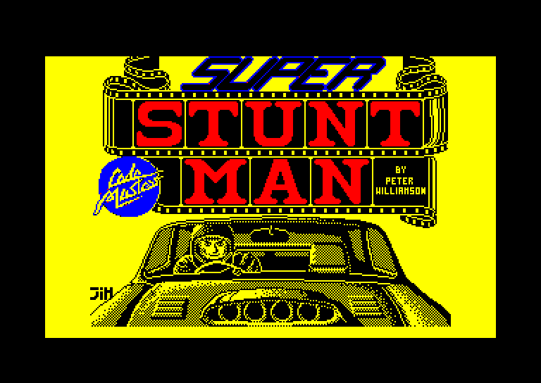 screenshot of the Amstrad CPC game Super Stunt Man by GameBase CPC