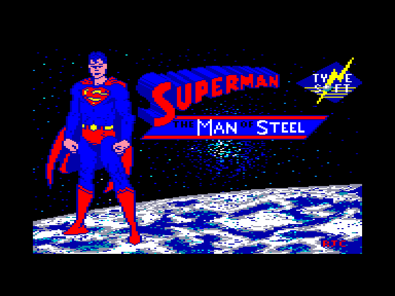 screenshot of the Amstrad CPC game Superman - The Man of Steel by GameBase CPC