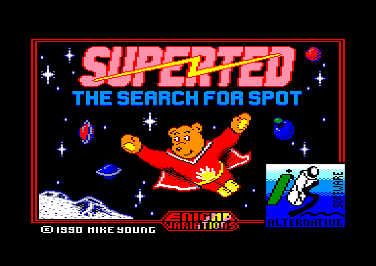 screenshot of the Amstrad CPC game Superted by GameBase CPC