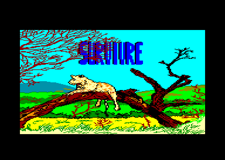 screenshot of the Amstrad CPC game Survivre by GameBase CPC