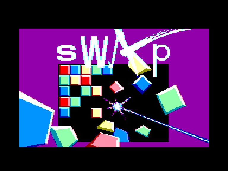screenshot of the Amstrad CPC game Swap by GameBase CPC
