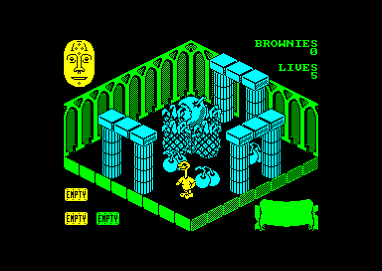 screenshot of the Amstrad CPC game Sweevo's world by GameBase CPC