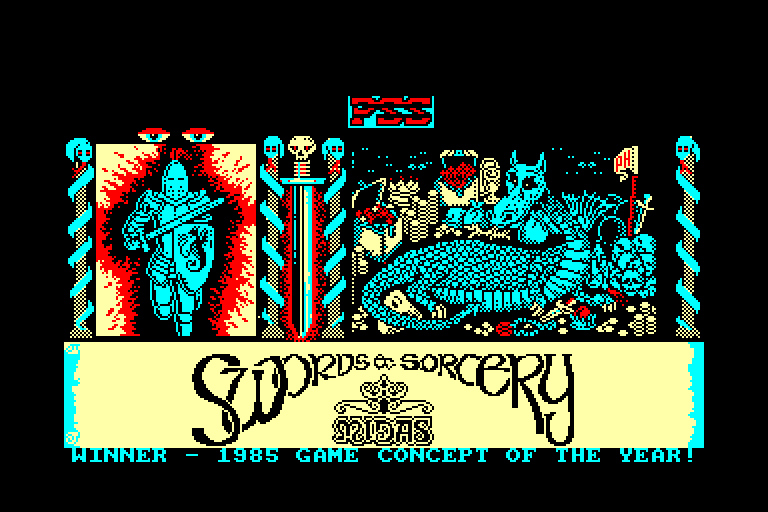 screenshot of the Amstrad CPC game Swords & Sorcery by GameBase CPC