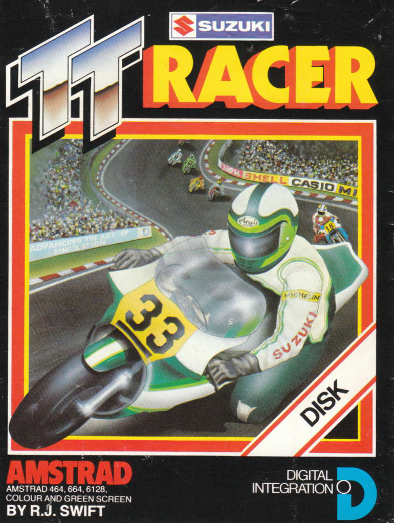 screenshot of the Amstrad CPC game TT racer by GameBase CPC