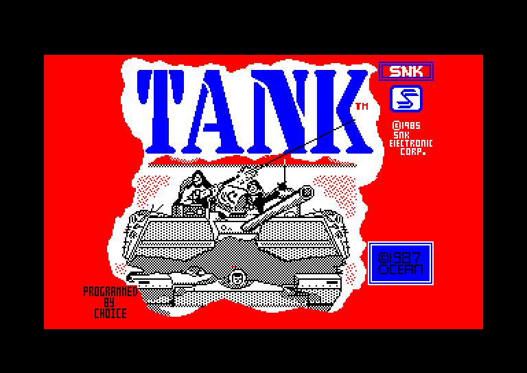 screenshot of the Amstrad CPC game Tank by GameBase CPC