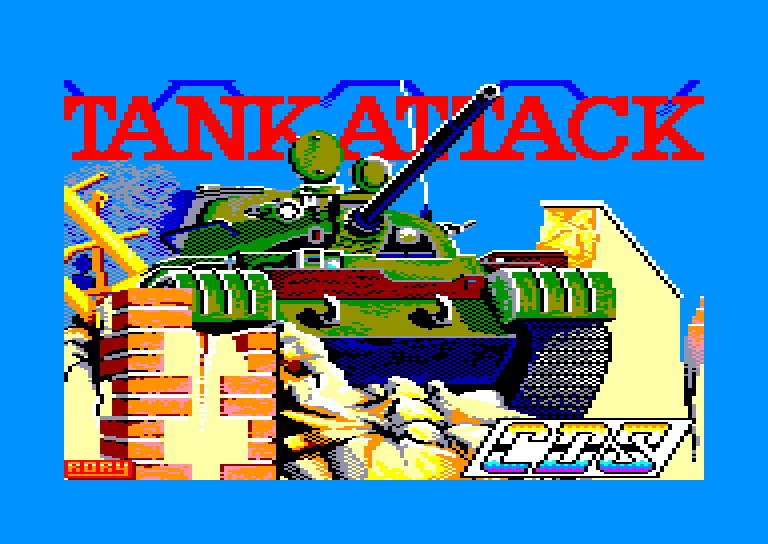 screenshot of the Amstrad CPC game Tank attack by GameBase CPC