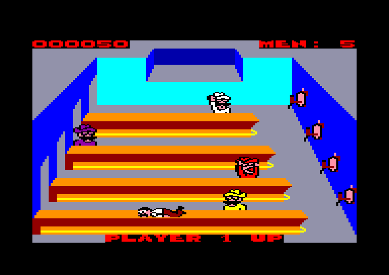 screenshot of the Amstrad CPC game Tapper by GameBase CPC
