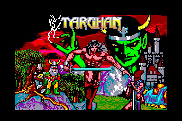 screenshot of the Amstrad CPC game Targhan by GameBase CPC