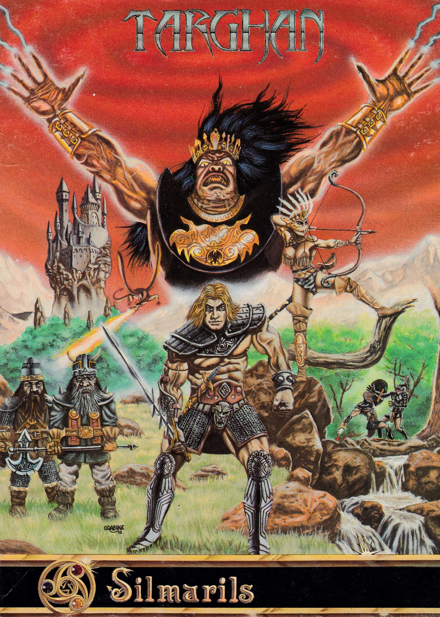 cover of the Amstrad CPC game Targhan  by GameBase CPC