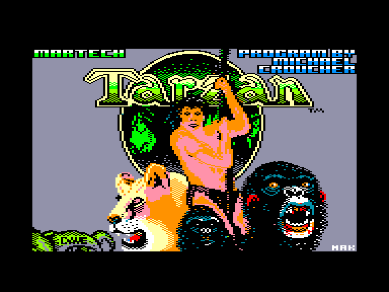 screenshot of the Amstrad CPC game Tarzan by GameBase CPC