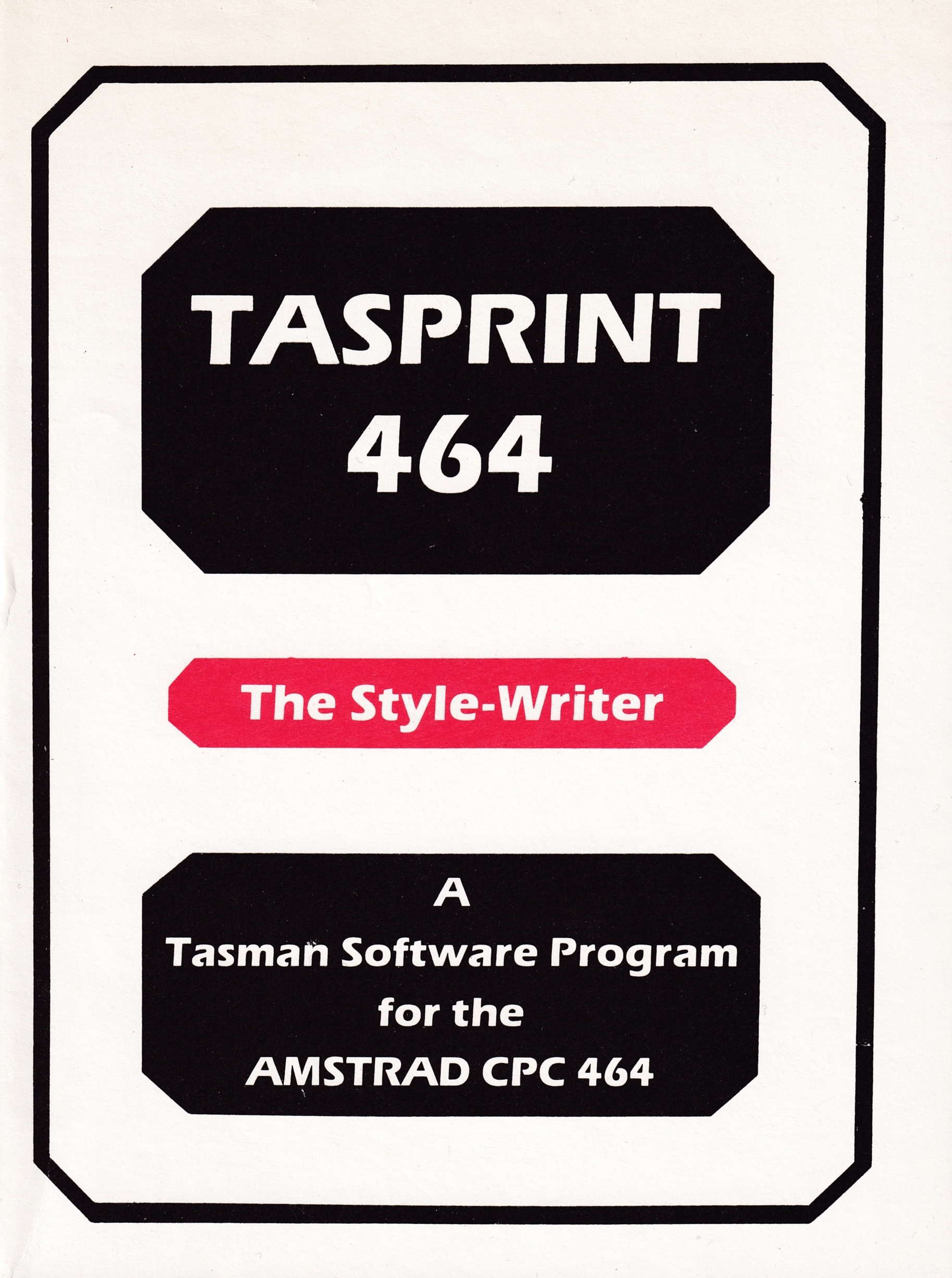 cover of the Amstrad CPC game Tasprint 464  by GameBase CPC