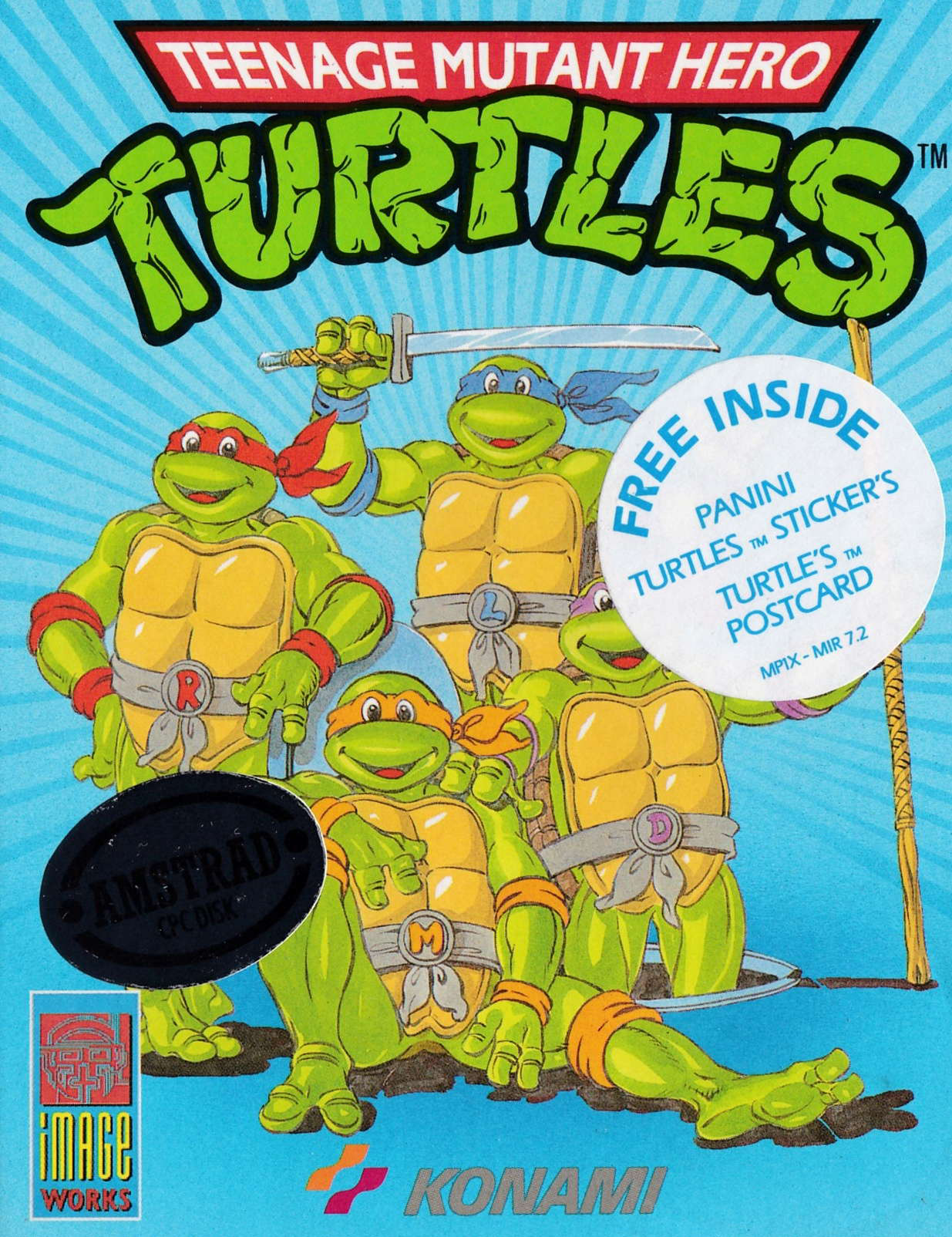 cover of the Amstrad CPC game Teenage Mutant Hero Turtles  by GameBase CPC