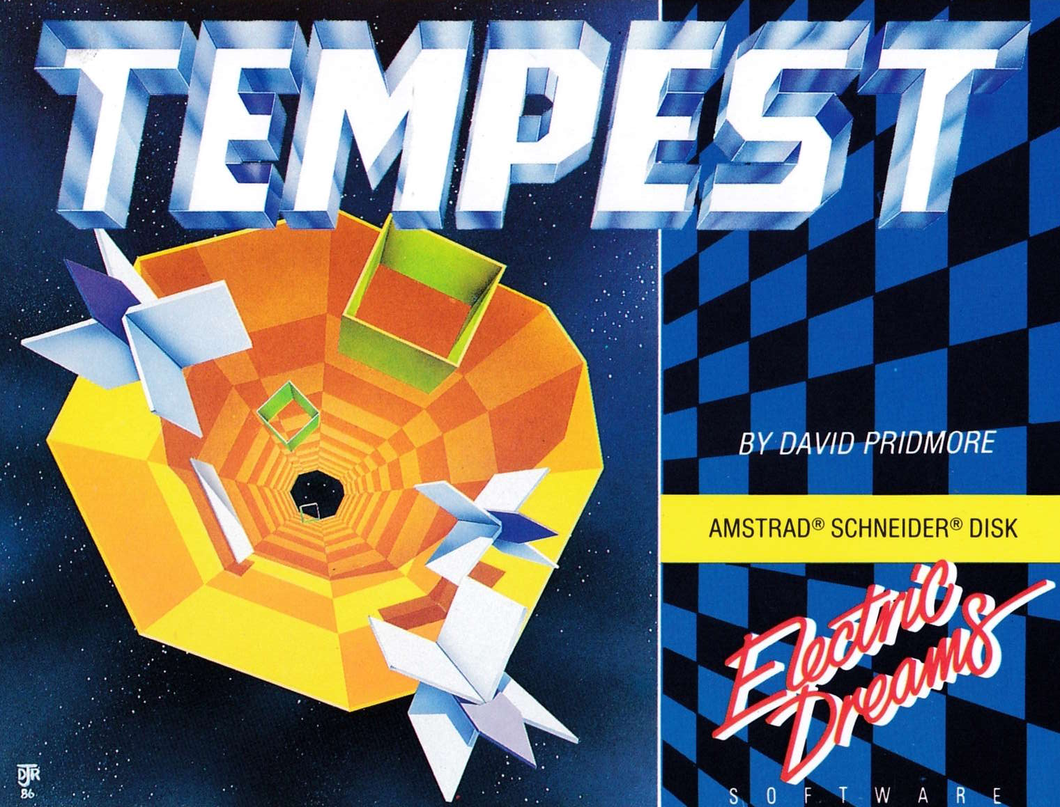 screenshot of the Amstrad CPC game Tempest by GameBase CPC