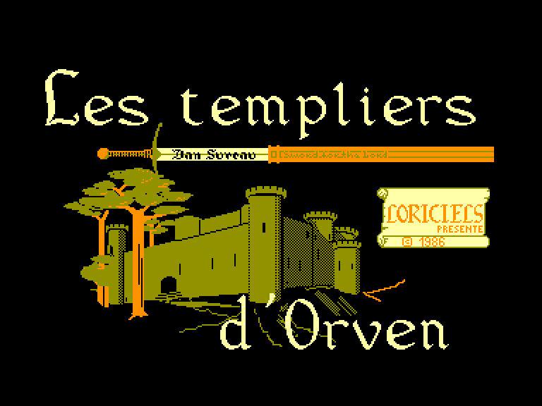 screenshot of the Amstrad CPC game Templiers d'orven (les) by GameBase CPC