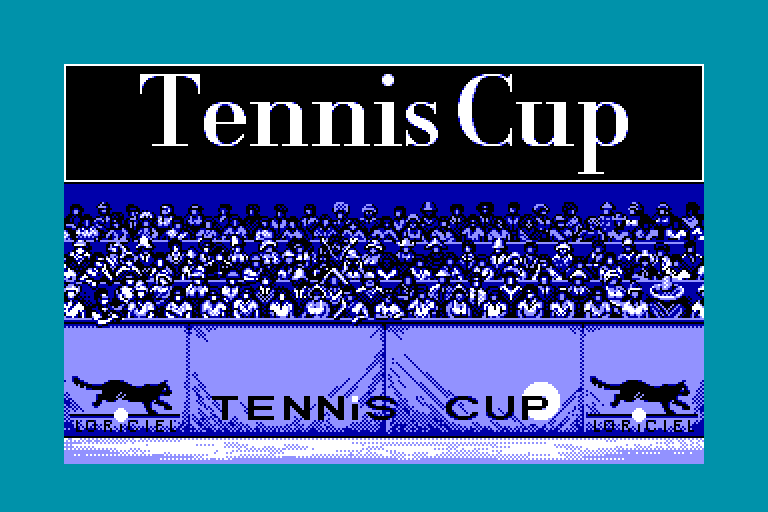 screenshot of the Amstrad CPC game Tennis cup by GameBase CPC