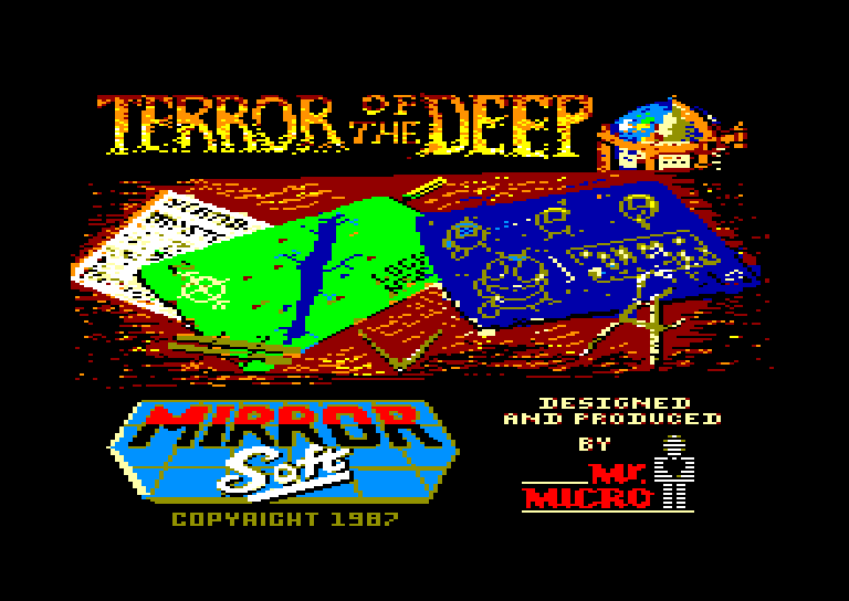 screenshot of the Amstrad CPC game Terror of the deep by GameBase CPC