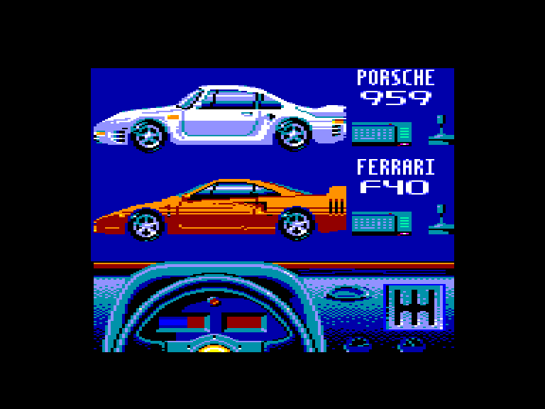 screenshot of the Amstrad CPC game Test Drive II - The Duel by GameBase CPC