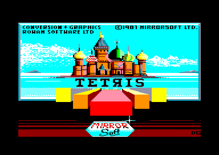 screenshot of the Amstrad CPC game Tetris by GameBase CPC