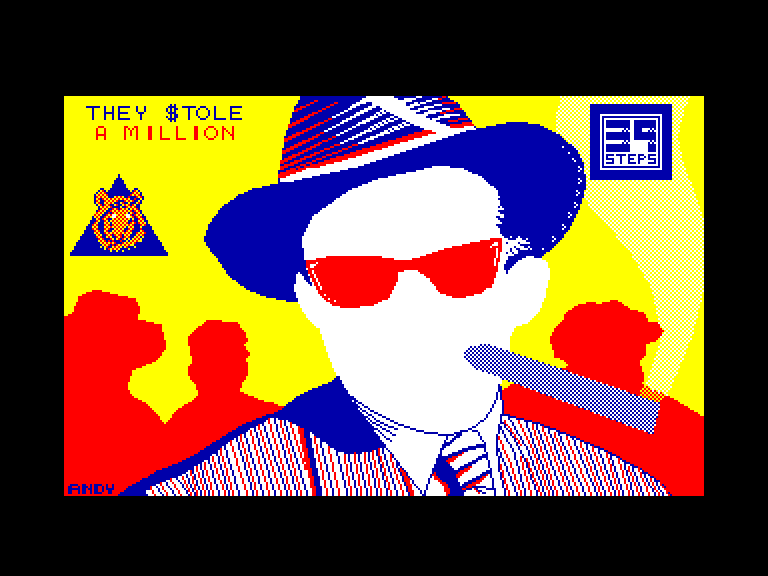 screenshot of the Amstrad CPC game They $tole a Million by GameBase CPC