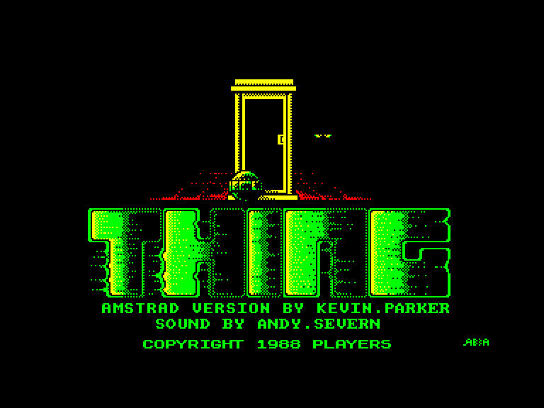 screenshot of the Amstrad CPC game Thing ! by GameBase CPC