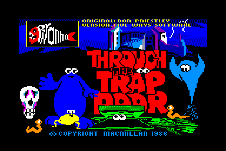 screenshot of the Amstrad CPC game Through the Trap Door by GameBase CPC
