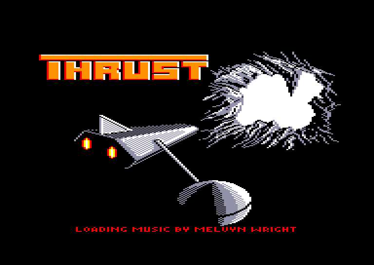 screenshot of the Amstrad CPC game Thrust by GameBase CPC