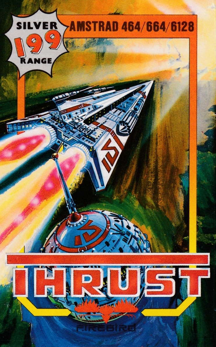 cover of the Amstrad CPC game Thrust  by GameBase CPC
