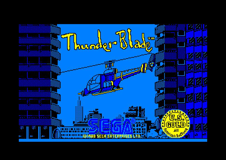 image de chargement du jeu Amstrad CPC Thunder Blade