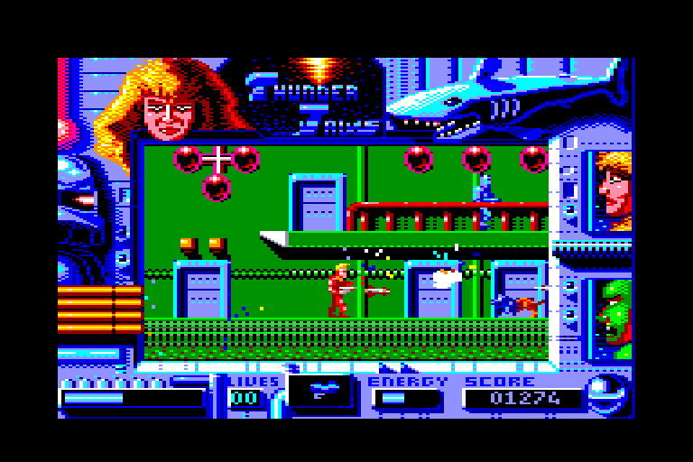 screenshot of the Amstrad CPC game Thunder Jaws by GameBase CPC