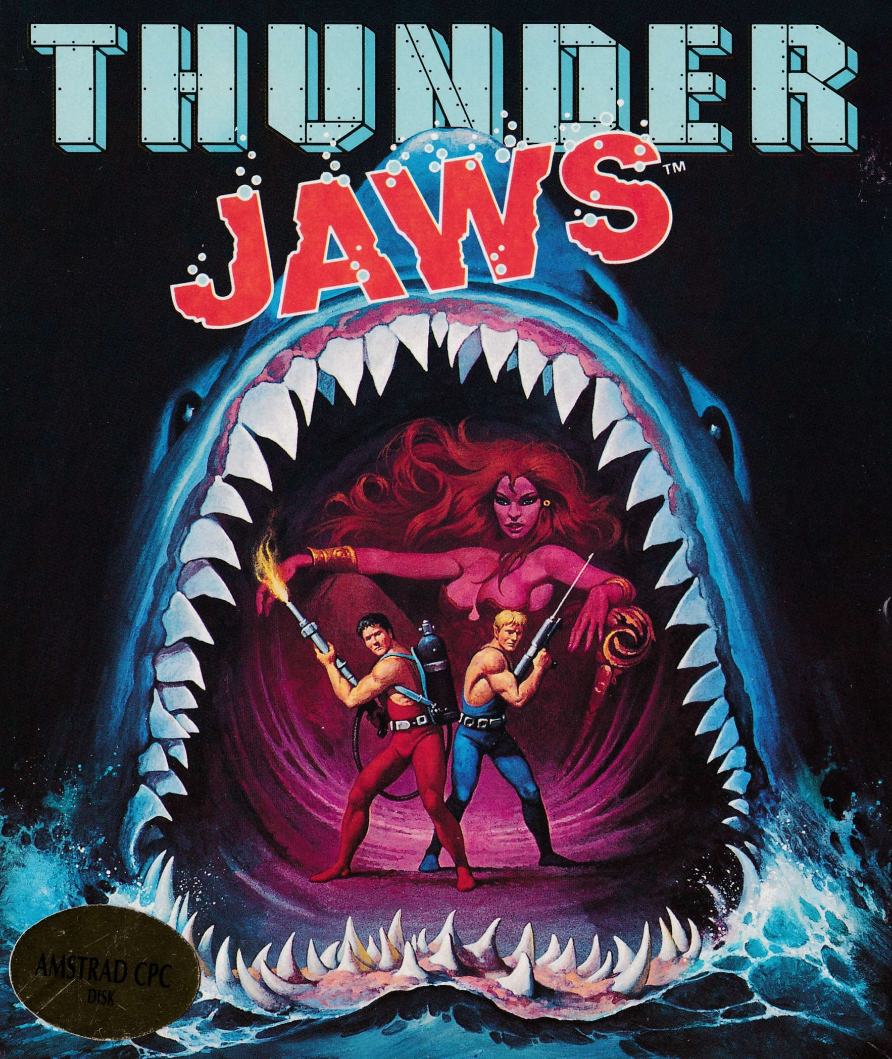 cover of the Amstrad CPC game Thunder Jaws  by GameBase CPC