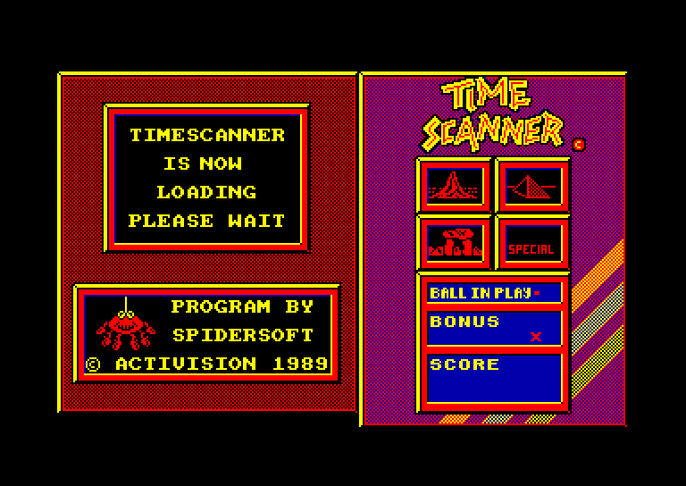 screenshot of the Amstrad CPC game Time scanner by GameBase CPC