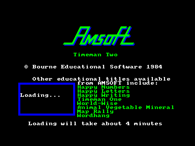 screenshot of the Amstrad CPC game Timeman two by GameBase CPC